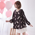 Princess sweet lolita blouse The new spring dress female rabbit loose Sen Japanese sweet chiffon shirt  XF2020