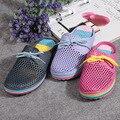 Новые женские Тапочки Сад Обувь Летние Дышащие Сандалии Пляж Квартира С Обувь Мулы Сабо Мужчин и для Женщин EVA Материал