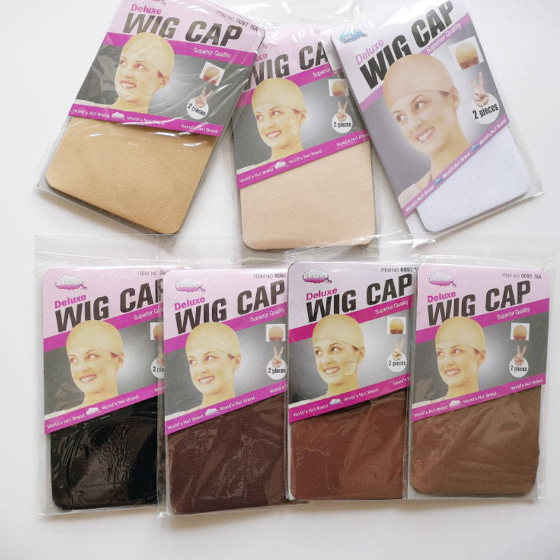 30PCS (15bag)Stocking Wig Cap Fashion Stretchable Mesh Wig Cap  Mesh Weaving Black Brown Beige Wig Hair Net Making Caps Hairnets