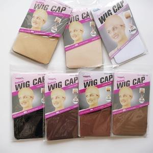 30PCS (15bag)Stocking Wig Cap Fashion Stretchable Mesh Wig Cap Mesh Weaving Black Brown Beige Wig Hair Net Making Caps Hairnets(China)