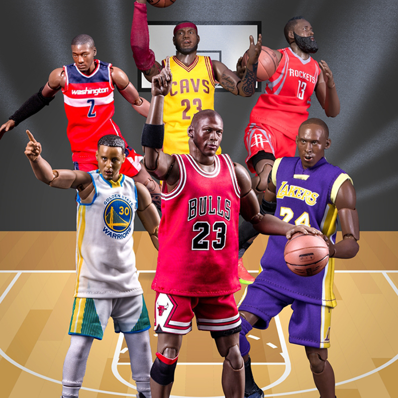 Basketball figure jordan Curry James Harden John Wall Kobe Bryant Joints Moveable 22cm Action Figure ToysBasketball figure jordan Curry James Harden John Wall Kobe Bryant Joints Moveable 22cm Action Figure Toys