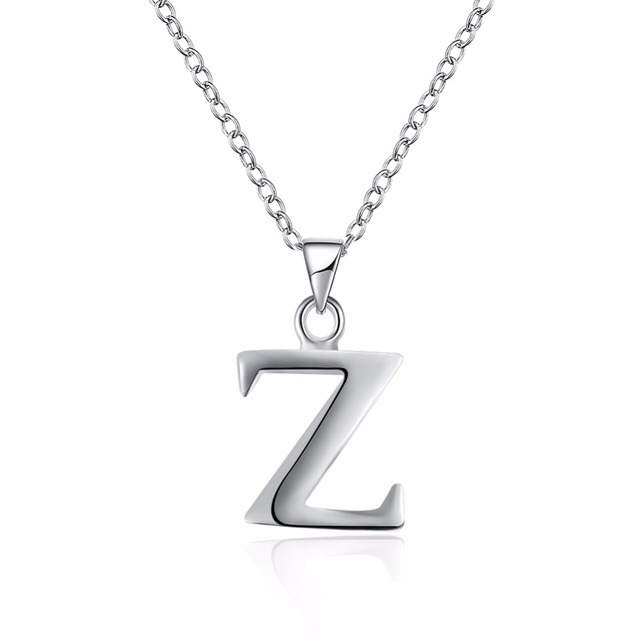 Letter Z Necklace ALP Classic letter Z pendant standard 925 sterling silver chain fashion very  simple style female pendant necklace