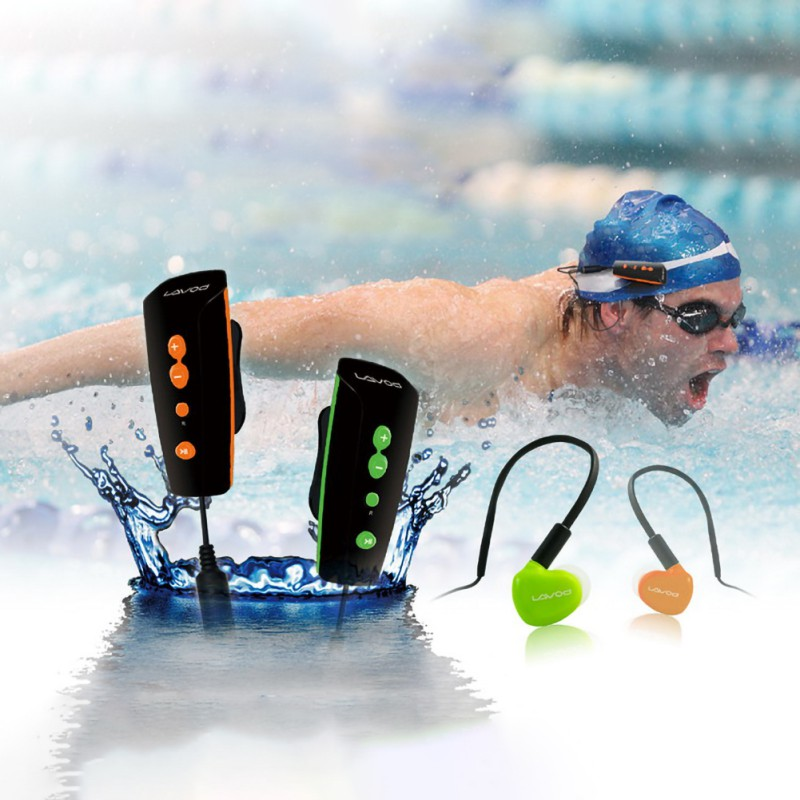 Underwater MP3 360 Degree Rotation Back Clip Rechargeable 8GB Swimming Diving Outdoor Waterproof Sports MP3 With Back Clip