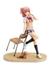Anime menina yuigahama yui figuras yuigahama yahari demonstração minério nenhum seishun pvc figura de ação bonecas modelo