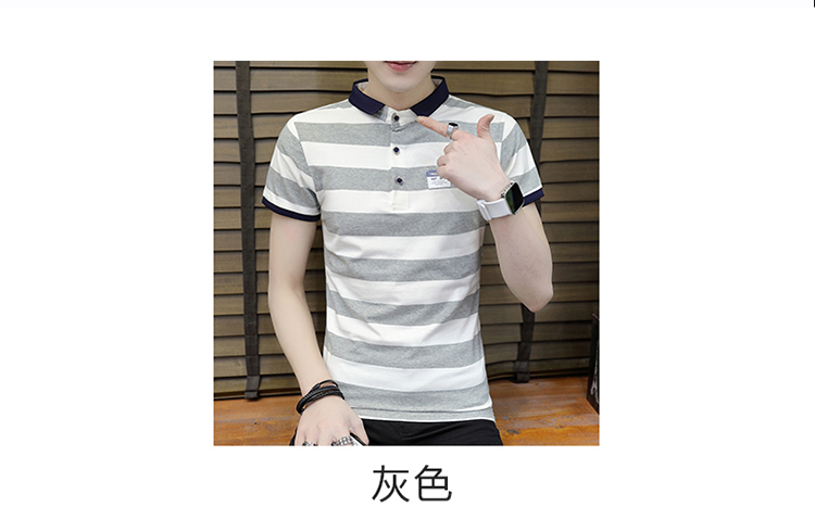 New summer high quality striped short sleeve polo shirt men brand clothing fashion Korean casual slim fit male camisa 9018Z 8