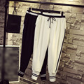 New Style Pants Women Pencil Pants Plus Size 3XL 4XL Casual Black White Striped Sweatpants Cotton Loose Pants Trouser QYL13