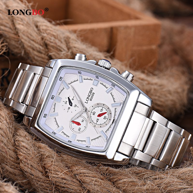 1157ceef189 LONGBO Brand Fashion Mens Watches Top Brand Luxury Square Dial Male Sports  Quartz Watch Waterproof Clock Relogio Masculino 80009-in Quartz Watches  from ...
