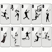 Baseball Football Soccer Tennis Golf American style Sports Athlete for Iphone 5 SE 6 6S 7 8 Plus 11 pro XR XS MXA max