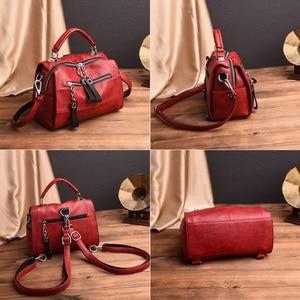 Image 4 - 2019 Luxury Soft Leather Handbags Women Bags Designer Girls Small Flap Bags Retro Crossbody Bag for Women Multifunction Bag Sac