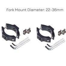 22MM-36MM Motorcycle Headlight Fork Clamps Mount Light Holder Lamp Bracket Aluminum Alloy
