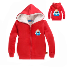hot deal buy the boss baby cartoon outerwear boys children kids tops coats baby boy's clothing thicken hoodies clothes