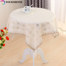 Home Hotel Party Knitted Manteles 2017 New Round Tablecloth High Quality Rectangles Dust Cover Tulle Decoration Tablecloths
