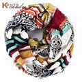 Viscosa bufanda de la raya geométrica bufanda infinito paisley bufanda para las señoras envío gratis