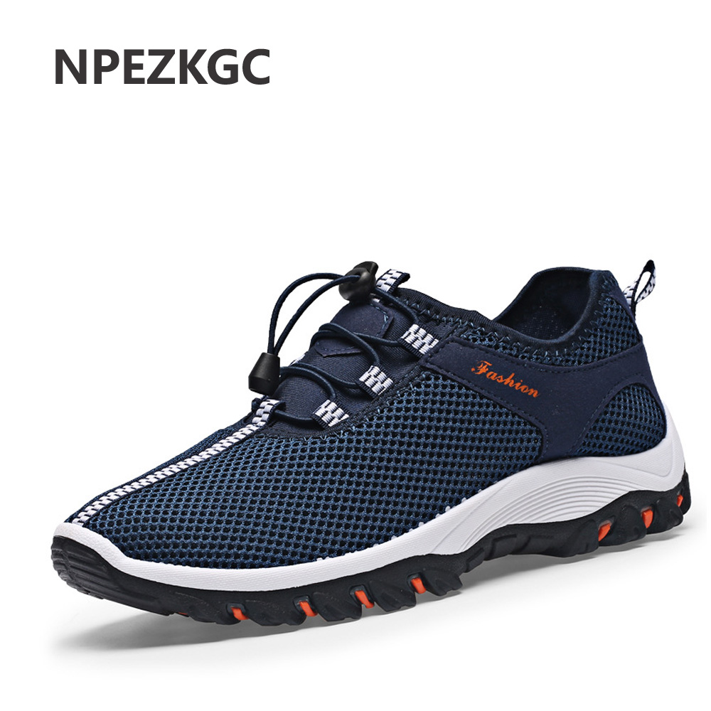NPEZKGC 2017 New Summer Men Shoes Breathable Male Casual Shoes Fashion Chaussure Homme Mesh Zapatos Hombre Outdoor Men Shoes upper stay front fairing cowl bracket for suzuki hayabusa gsx1300r 2008 2014 2009 2010 2011 12 black
