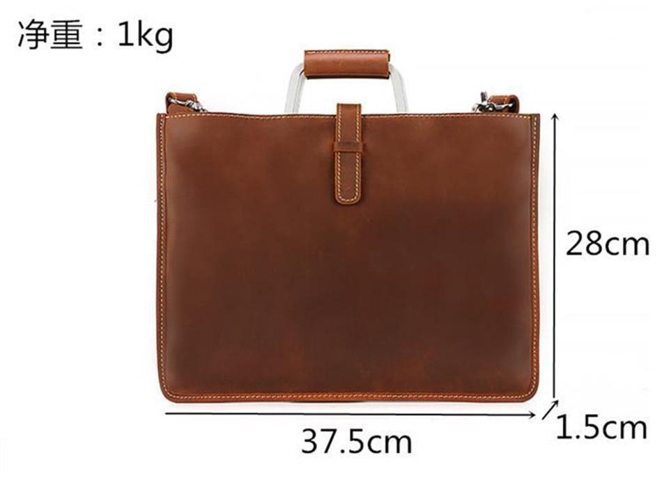 HTB1bq9eFbGYBuNjy0Foq6AiBFXaB Joyir 2019 Crazy horse leather briefcase for man coffee color vintage men genuine leather messenger bag business bags male