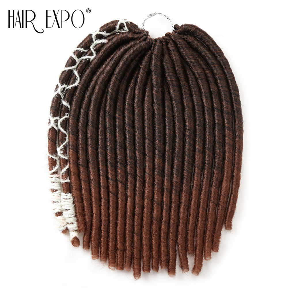 14inch Crochet Braids Dreadlocks Hair Extensions Synthetic Hair Straight Soft Styles Dread Braids 20stands/pack Hair Expo City