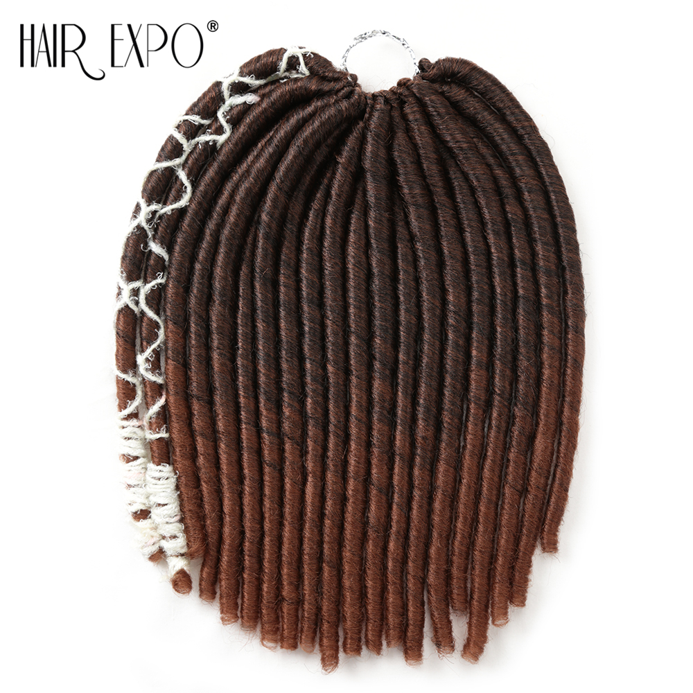 14inch Crochet Braids Dreadlocks Hair Extensions Synthetic Straight Soft Styles Dread 20stands/pack Expo City