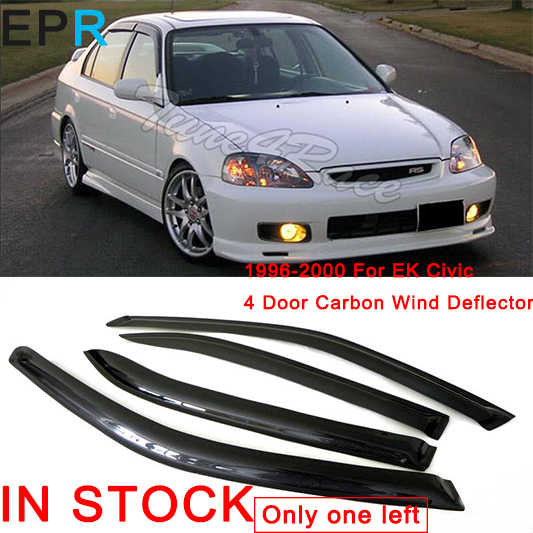 For Ek Civic 1996 2000 4 Door Carbon Fiber Wind Deflector For Honda Glossy Fibre Accessories Mirror Covers Aliexpress