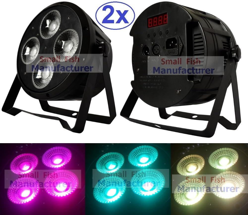 2xLot LED Par Light 4x20W 3in1 RGB Tricolor Par Can Beam Wash DJ DMX Par Light American DJ Plastic Led Flat Par Light Led Lamps