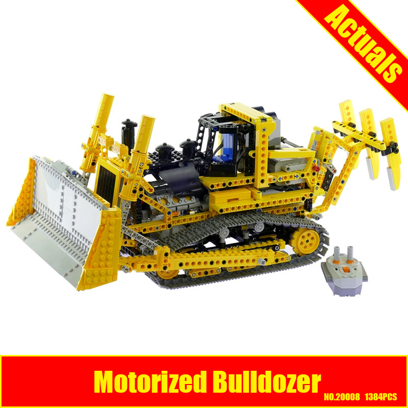 LEPIN 20008 technic series remote contro lthe bulldozer Model Assembling Building block Bricks kits Compatible with 8275 new lepin 22001 pirate ship imperial warships model building kits block briks toys gift 1717pcs