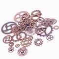 Sweet bell mix 100 pcs cobre antigo encantos engrenagem pingente antigo bronze colar pulseiras fit diy metal fazer jóias d0537