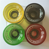 Professional Skateboard Longboard Wheels 70mm PU Transparent Different Colors Long Board Wheel