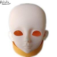 4 bjd head large eyes suit for pratice make up