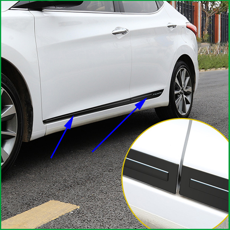 FOR Hyundai Elantra 2011 2015 BODY MOLDING DOOR SIDE LINE GARNISH TRIM COVER PROTECTOR ACCENT LINING