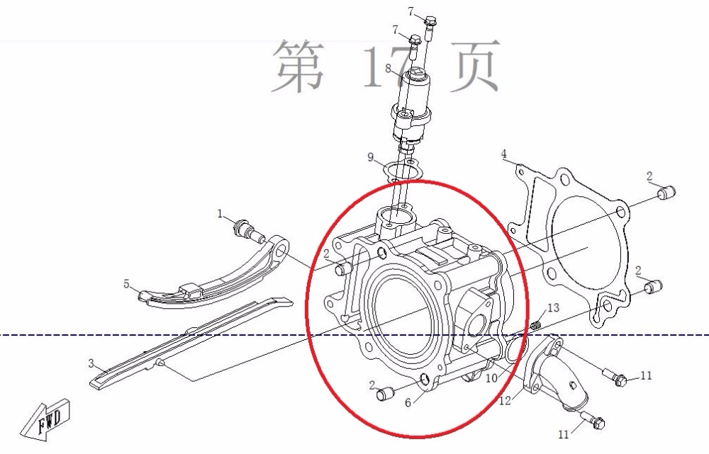 CYLINDER BODY FOR CFMOTO  CF250 JETMAX ENGINE PARTS NUMBER IS 01A0-023100-0080 radiator cooling system for cfmoto cf250 t5 v5 parts number is 8050 180400