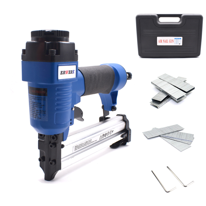 2 In 1 Combi Nailer 422J F30 Pneumatic Nail Staples Gun 18 Ga Air Frame With Stapler&Nails Carpentry Woodworking Tools2 In 1 Combi Nailer 422J F30 Pneumatic Nail Staples Gun 18 Ga Air Frame With Stapler&Nails Carpentry Woodworking Tools