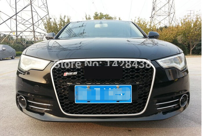 RS6 Style Black Honeycomb Mesh Sport Grille Grill Fit For Audi A6 S6 Avant 12-14 radiator cooling fan relay control module for audi a6 c6 s6 4f0959501g 4f0959501c