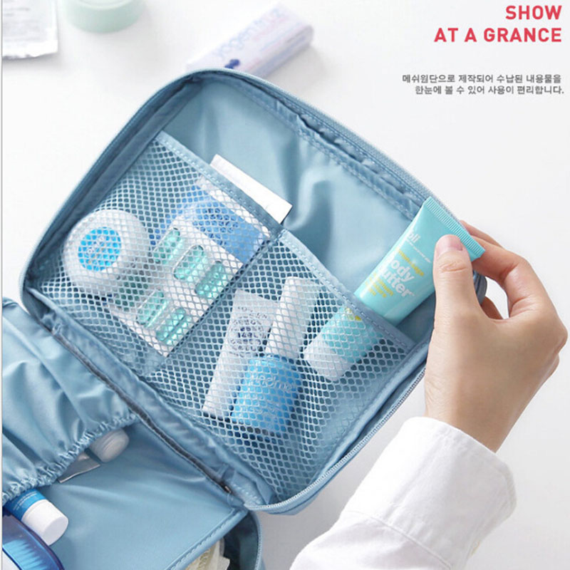 Neceser Zipper Makeup bag Neceseries Cosmetic bag dot beauty Case Make Up Tas Makeup Sets Organizer Storage Travel Wash cosmetic 1