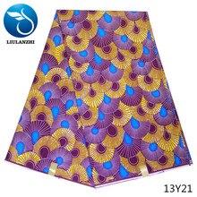 LIULANZHI 100%Cotton Colours prints wax fabric Fashion design african fabrics nigerian 6yards 13Y21-13Y25