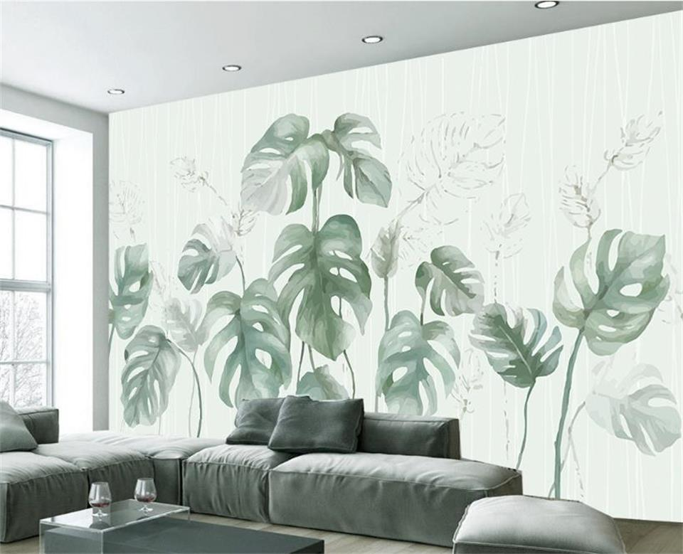 3d wallpaper custom photo wallpaper living room mural palm banana leaves 3d painting sofa TV background wallpaper for walls 3 d roman column elk large mural wallpaper living room bedroom wallpaper painting tv background wall 3d wallpaper for walls 3d