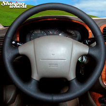 BANNIS сшитый вручную черный кожаный чехол на руль для hyundai Sonata старый Sonata 2005
