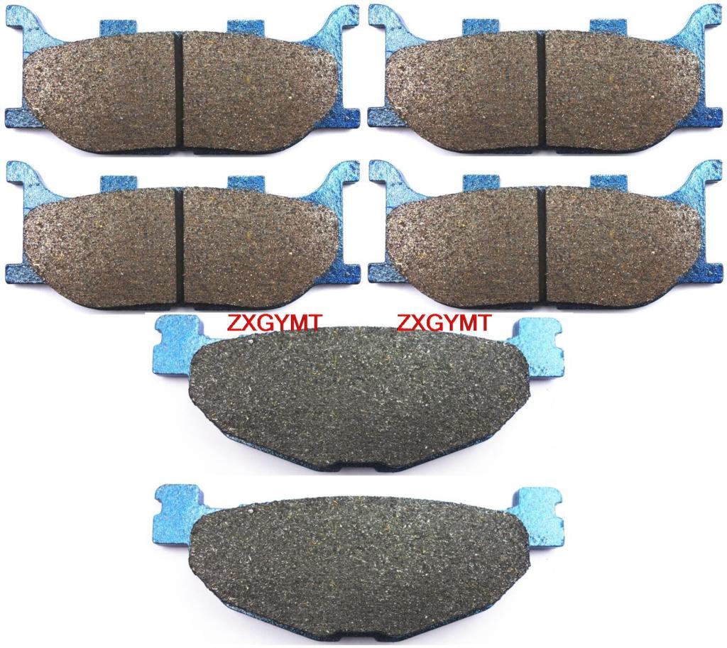 Motorcycle Semi-Metallic Brake Shoe Pads Set fit for YAMAHA XP500 TMAX 500 XP 500 TMAX 2004 - 2007 brake shoe pads set fit yamaha xp500 tmax tmax500 xp 500 t max abs non abs 2008 2009 2010 2011 2012