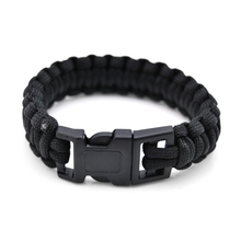 купить Survival Paracord Men Bracelet Fit Whistle Buckle Outdoor Camping Hiking Survival Wristband Emergency Rope Bracelet Jewelry Gift по цене 46.2 рублей