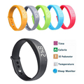 W5 Smart Wristband Pedometer Sleep monitor Temperature display FitnessTracker Smartband for Android phone