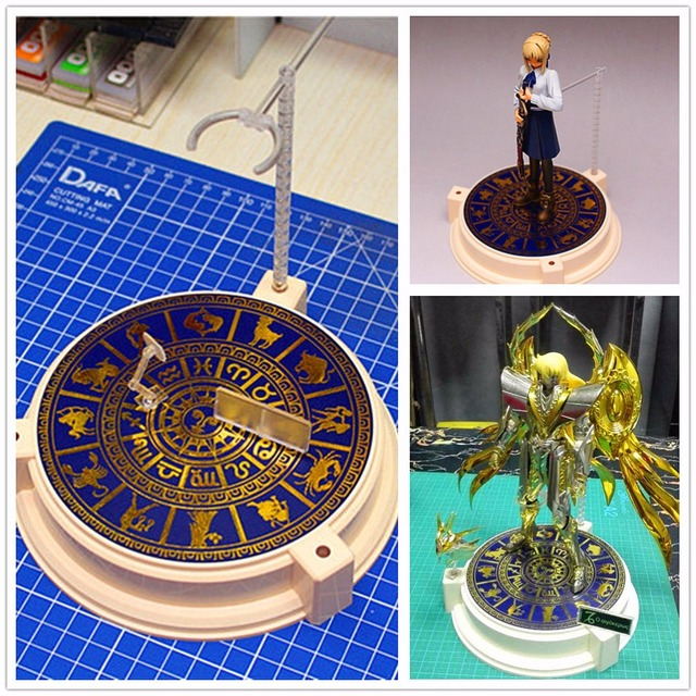 Anubis Bronzing Special Edition Twelve constellation Base for Bandai Saint Seiya figure & other model