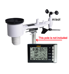 Professionelle wetter station wind geschwindigkeit wind richtung temperatur feuchtigkeit regen 433 Mhz