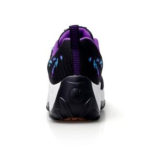 Image 4 - STQ 2020 秋女性フラットプラットフォームスニーカー女性のための軽量で快適な通気性の女性ひもカジュアルスニーカー 1856