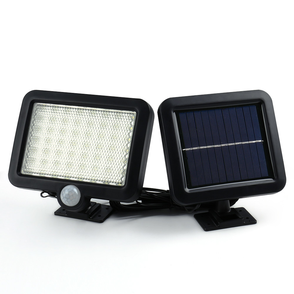 Binval Solar Led Garden Lawn Lamps Outdoor Decoration Lighting Sensor Lights 56 LEDs Solar Motion Detection Wall Solar Lamp 2017 led solar lamp remote control garden lawn lights outdoor infrared sensor light 20 led solar motion detection wall light ca