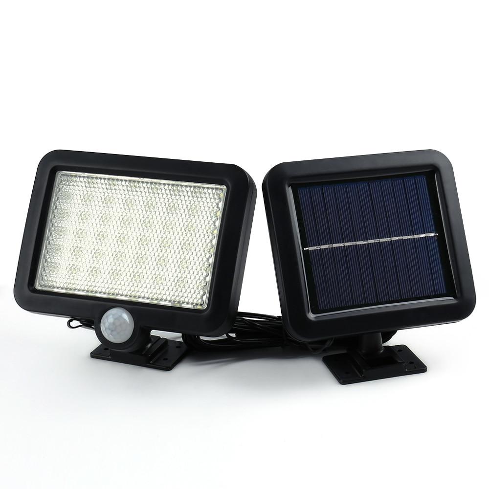 Binval Solar Led Garten Rasen Lampen Außen Dekoration Beleuchtung Sensor Lichter 56 LEDs Solar Motion Erkennung Wand Solar Lampe