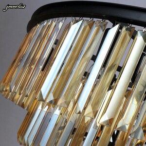 Image 5 - Элегантная хрустальная люстра jmmxiuz K9, дымчато серая люстра с подвеской из кристаллов для кафе, ресторана, отеля
