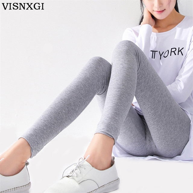 Lady Deportes Leggings Fitness Women Comfort Cotton Slim Elastic Stretch aptitud Legging Women's Pencil Jeggings Leggins K129