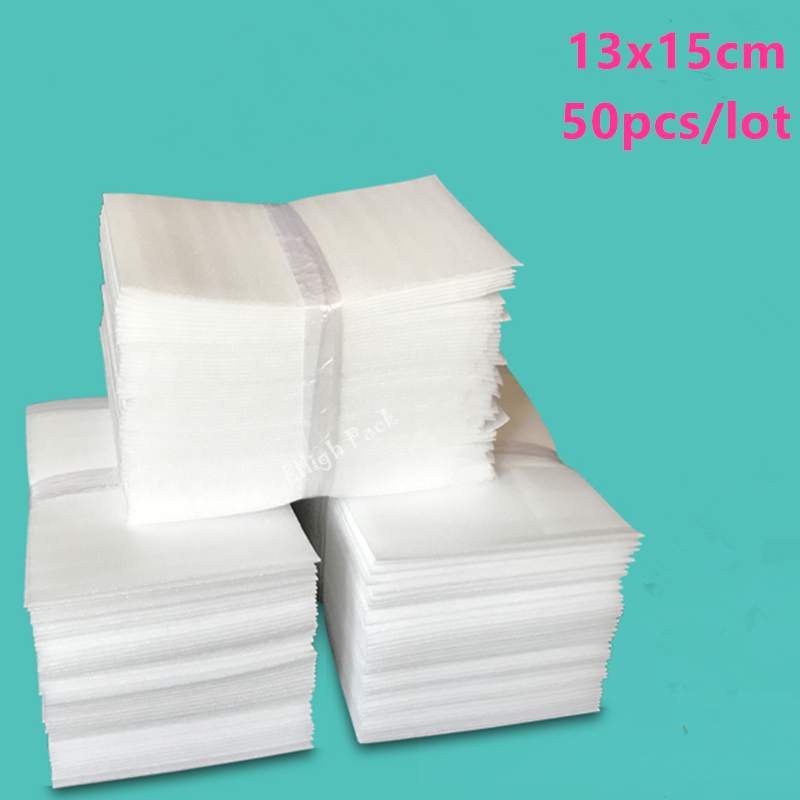 13*15cm (5.12*5.9 inch) 0.5mm 50Pcs Protective EPE Foam Insulation Foam Sheet Cushioning Packaging Pouches Packing Material