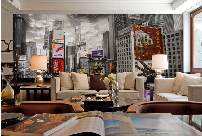 The custom 3D murals,black and white New York's times square modern street building ,living room sofa TV wall bedroom wall paper the custom 3d murals the new york times center building street black and white living room sofa tv wall bedroom wall paper