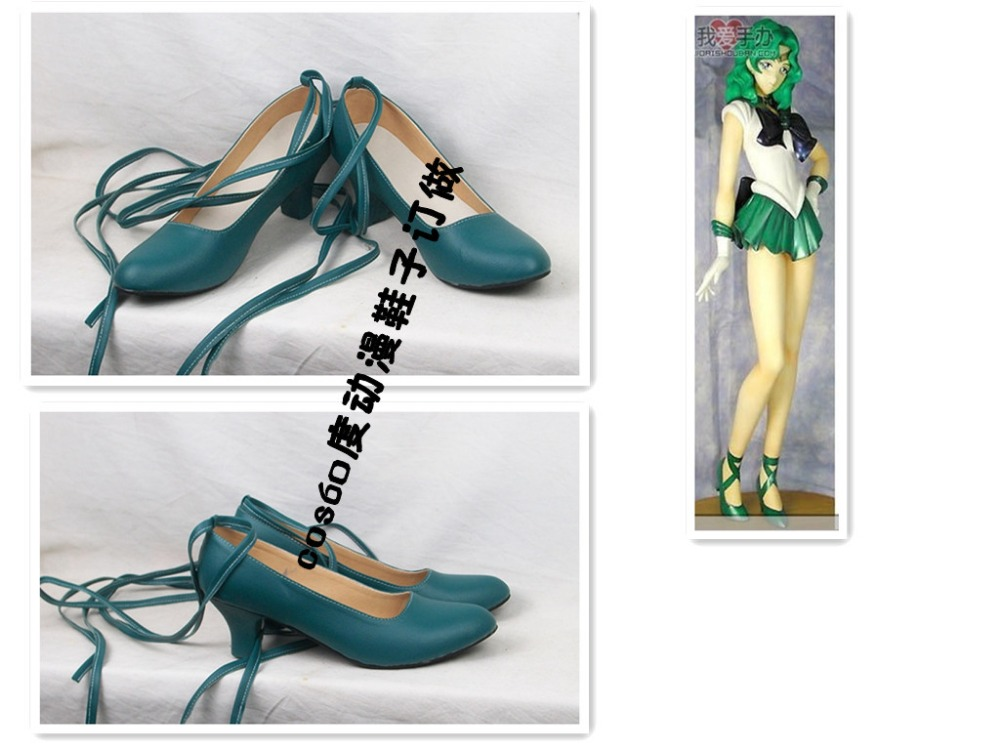 Sailor Moon Neptune Michiru Kaioh Cosplay Shoes S008
