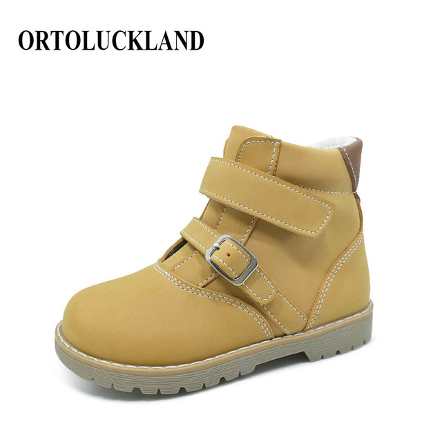92979b5757 Latest 2019 fashion boys and girls genuine leather shoes orthopedic footwear  for children european kids boots casual shoes