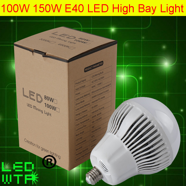 DHL Free shipping 100W high bay led lamp 110LM/W Super Brightness E40 150W LED High Bay  ...